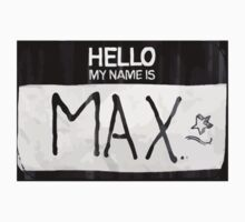 Max's Sticker - Nametag by scolecite