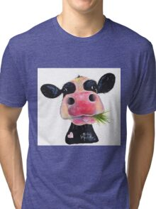 NOSEY COW 'HURLEY BURLEY' Tri-blend T-Shirt