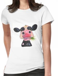 NOSEY COW 'HURLEY BURLEY' Womens Fitted T-Shirt