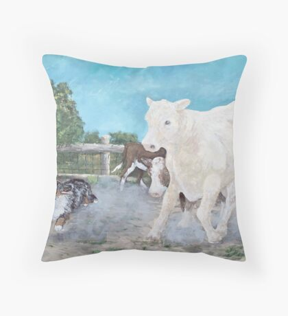 Lizard and The White Steer Throw Pillow
