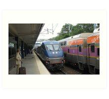 662 Amtrak Regional and 1706/1050 MBTA Commuter Rail Art Print