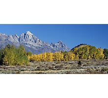 Fall Sweeping Through The Tetons (pan) Photographic Print