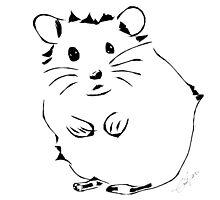 Hamster Minimalist Sketch  by ssmith3