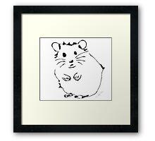 Hamster Minimalist Sketch  Framed Print
