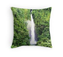Breathtaking waterfall Throw Pillow