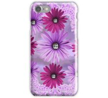 Purple & Pink Rhinestone Flowers Handkerchief Abstract iPhone Case/Skin