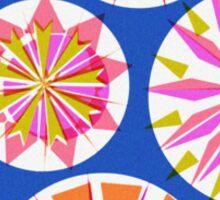 Retro Festive Pattern Sticker