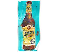 Shiner Block Beer Poster