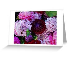 The diversity of Dahlias Greeting Card