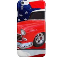 Patriotic 55 Chevy iPhone Case/Skin