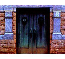 Mortuary Doors Photographic Print