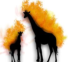 Burning Giraffes by IrotTori