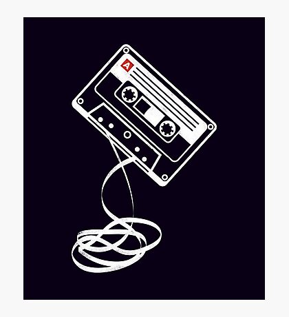 Cassette Tape Audio Analog Old School Music Geek Vintage Design Photographic Print