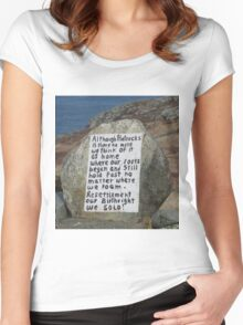 Painted Rock in NL Women's Fitted Scoop T-Shirt