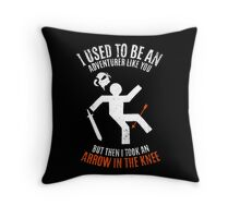 Arrow In the Knee 2.0 Throw Pillow