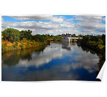 Reflection on American River Poster