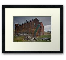 Bodie Ca Hitch up The Old Wagon Framed Print