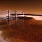 Tide fence, Gascoyne River, WA by BigAndRed
