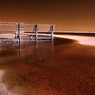 Tide fence, Gascoyne River, WA by BigAndRed