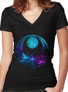 Nightingale Energies Women's Fitted V-Neck T-Shirt