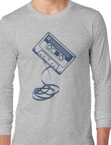 Cassette Tape Audio Analog Old School Music Geek Vintage Design Long Sleeve T-Shirt