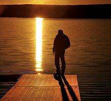 Sunset over Bear Creek Lake # 2 by Debra Fedchin