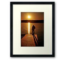 Sunset over Bear Creek Lake # 2 Framed Print