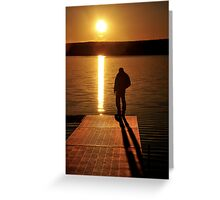 Sunset over Bear Creek Lake # 2 Greeting Card