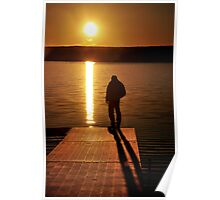 Sunset over Bear Creek Lake # 2 Poster
