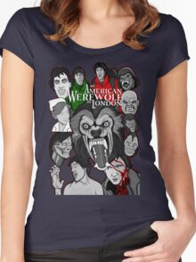 American Werewolf in London original collage art Women's Fitted Scoop T-Shirt