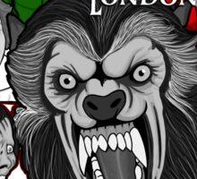 American Werewolf in London original collage art Sticker