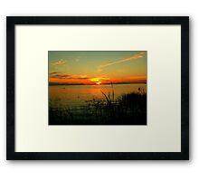 Lake Manitoba Sunrise Framed Print
