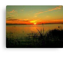 Lake Manitoba Sunrise Canvas Print