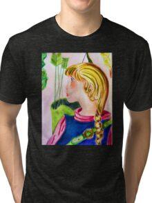 Little archer girl Tri-blend T-Shirt