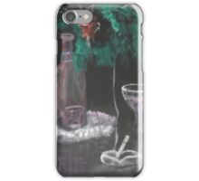 Still Life with Fern, Wine, and cigarette iPhone Case/Skin