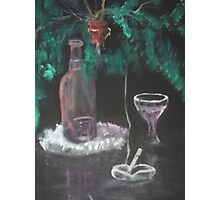 Still Life with Fern, Wine, and cigarette Photographic Print