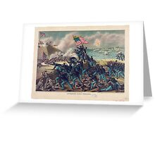 Civil War Storming of Fort Wagner July 18th 1863 Greeting Card