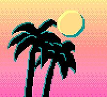 Palm Trees and Pixels by rei0