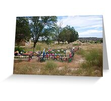 Cemeteries in the older neighborhoods Greeting Card