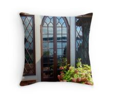 French Door Reflections Throw Pillow