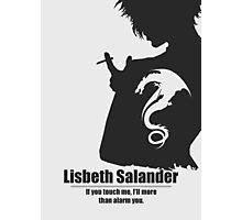 Minimalist Lisbeth Salander Photographic Print