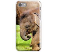 Stomping Baby Elephant iPhone Case/Skin