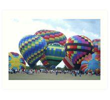 Hot Air Balloons V Art Print