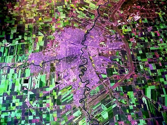Aerial View of Winnipeg, Manitoba, Canada by Larry Trupp