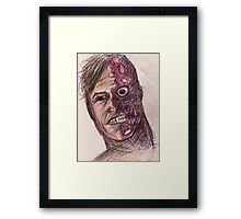 Two-Face Framed Print