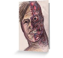 Two-Face Greeting Card