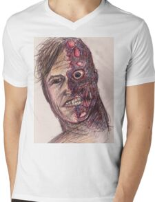 Two-Face Mens V-Neck T-Shirt