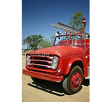 Old Fire Truck Photographic Print