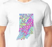 Preppy Printed Indiana State Unisex T-Shirt