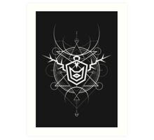 Demon Cyclops Cat (Dark Version) Art Print